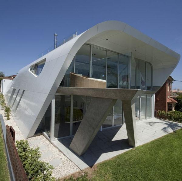 Ultra modern australian home of the future for Futuristic home designs