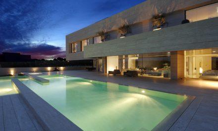Breathtaking Travertine Home Set in Madrid Spain