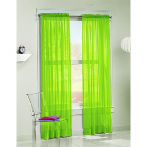 choose lime green sheer curtains to brighten up your room
