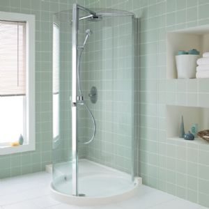 Bathroom on Is A Corner Shower Right For You