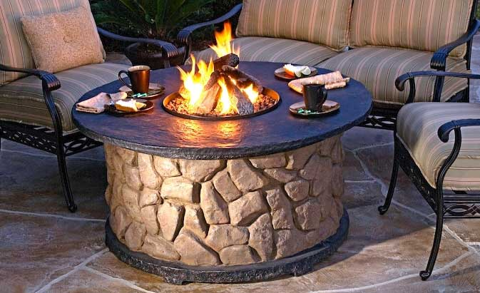 endless summer lp gas outdoor fire pit table with faux wood mantel products pinterest products fire and outdoor fire pits