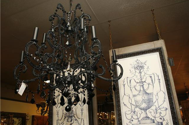 Versailles 1-light Black/ Crystal Mini Chandelier | Overstock.com