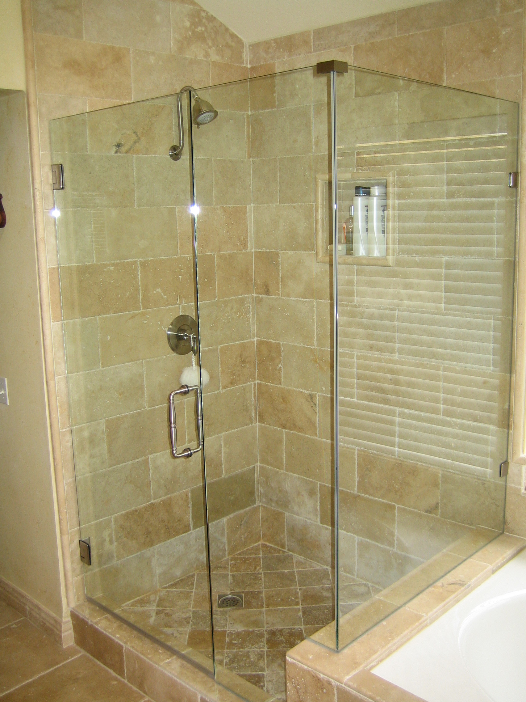 Some things to consider when selecting frameless shower doors Bathroom glass doors design