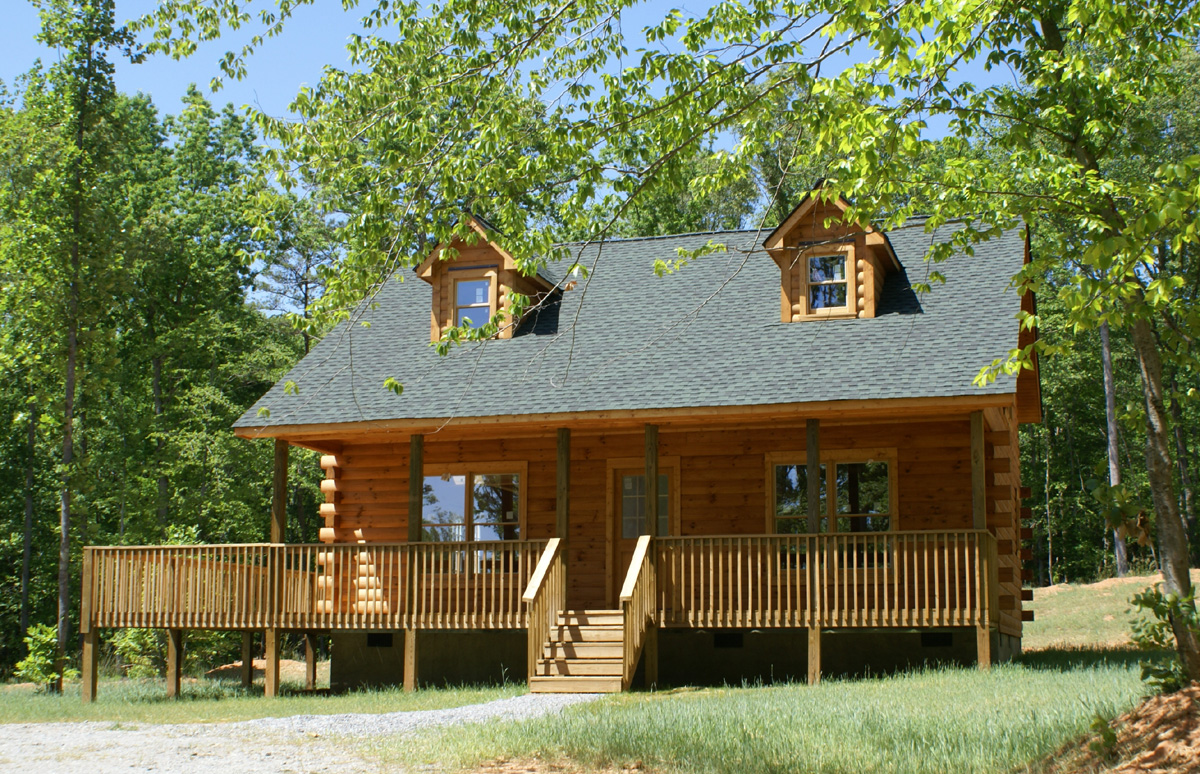 Log cabins granny annex office or teenager s room for Lodge plans pictures