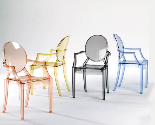 History of ghost chairs - Chaises pliantes transparentes ...