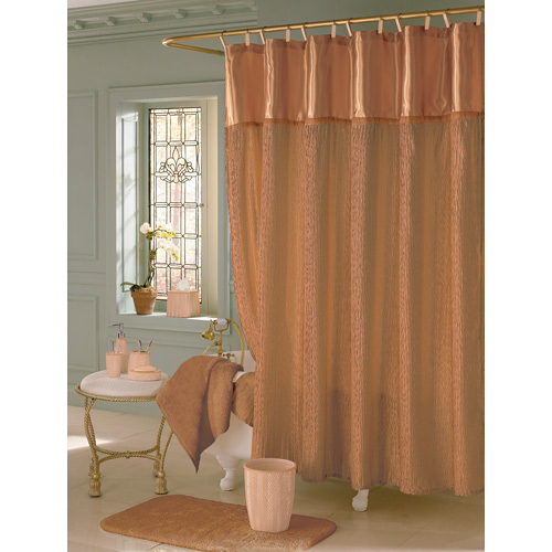 Your curtain will influence your choice of shower fixtures
