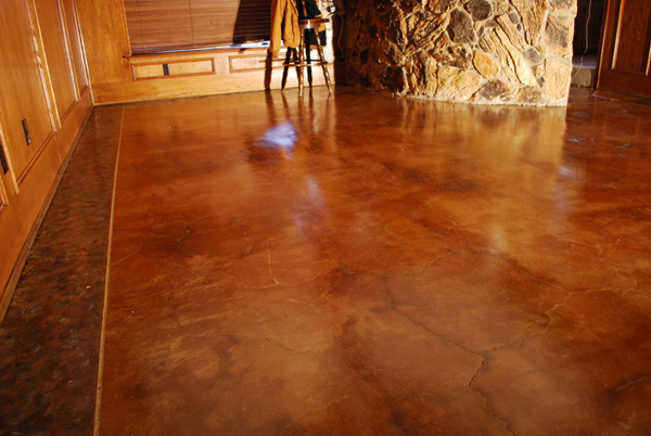 Esr concrete staining home floor remodel for Stained concrete floors