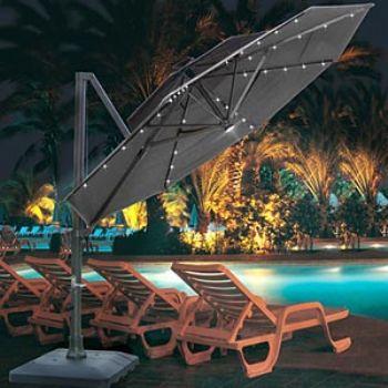 Solar Umbrella Lights for Your Deck or Patio | The Garden Lights Guru