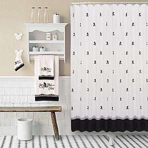 Amazon.com: black white shower curtain: Home & Kitchen