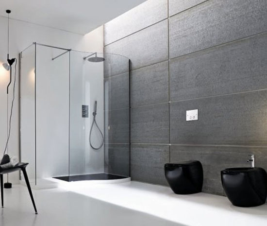Black and white bathroom ideas 3 for Modern black and white bathroom ideas