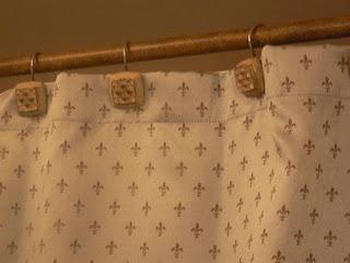 Fleur De Lis Shower Curtain 3