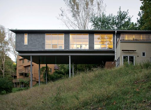 Playful Cantilever House in Kansas City, Missouri
