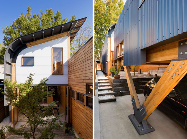 Central courtyard home designs australian eco house 6 for Sustainable home designs australia