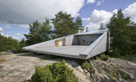 Cool Wedge Shaped Finnish Lake House