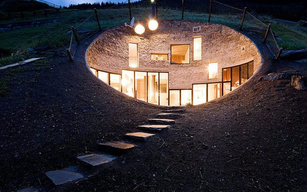 Modern Underground Home Built in Swiss Village by Christian Muller Architects and SeArch