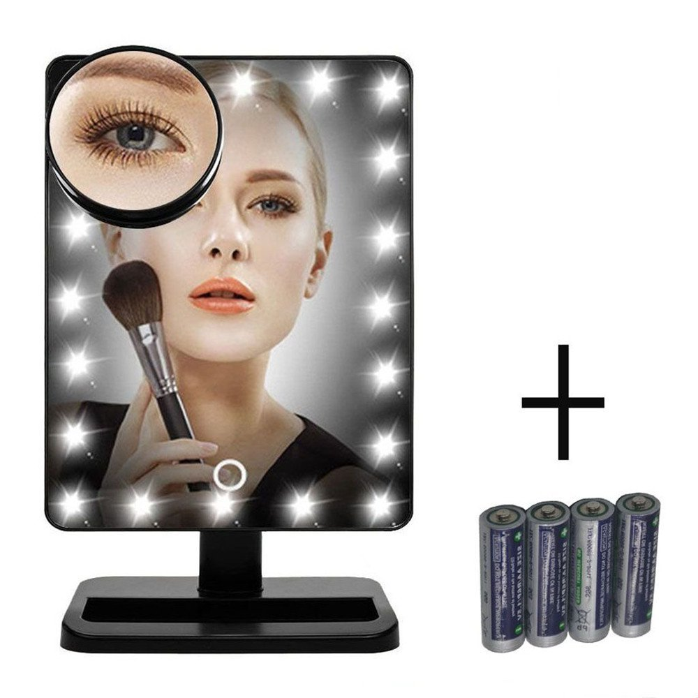 7 best lighted makeup mirrors reviewed top pick for 2017. Black Bedroom Furniture Sets. Home Design Ideas