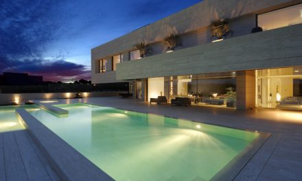 Breathtaking Travertine Home Set in Madrid Spain