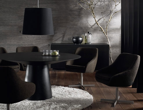 Genial Home » Modern Black Round Dining Table. Anyone Had Expectation Of Obtaining  An Extravagance Wish House And Also Great But Along With Minimal Resources  Along ...