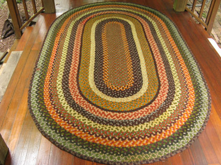 Colorful Round Braided Rug