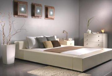 prince leather king size platform bed