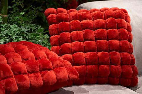 Beautiful Italian Square Cushion Red
