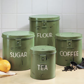 Vintage Style Kitchen Canisters