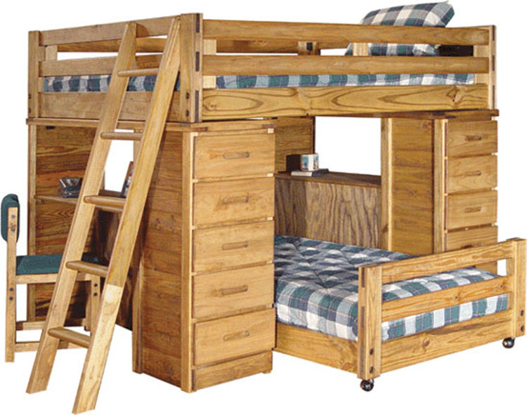 Bunk beds come with lockers included.