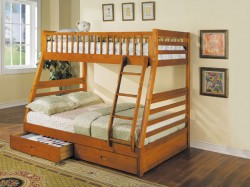 Saving space with a bunk bed