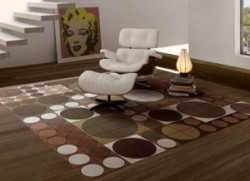 A stylish room with contemporary rugs