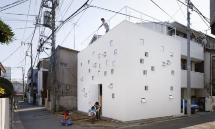 The Traditional and Modern Japanese Box House by Takeshi Hosaka Architects