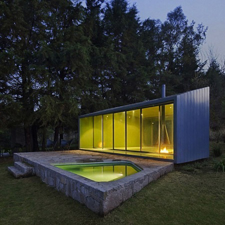 Stylish Mini Glass House For Relaxation By Mexican Architecture Firm