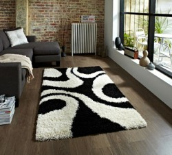 Black and White Designer Rug