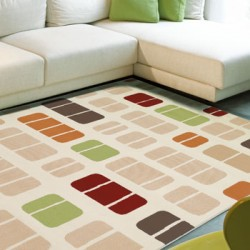 Patterned Cream Rug